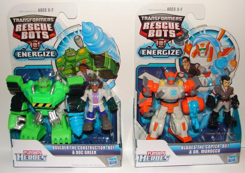 Tfrbnt2pw2 1. Transformers Rescue Bots 2 Packs Boulder U0026 Doc ...