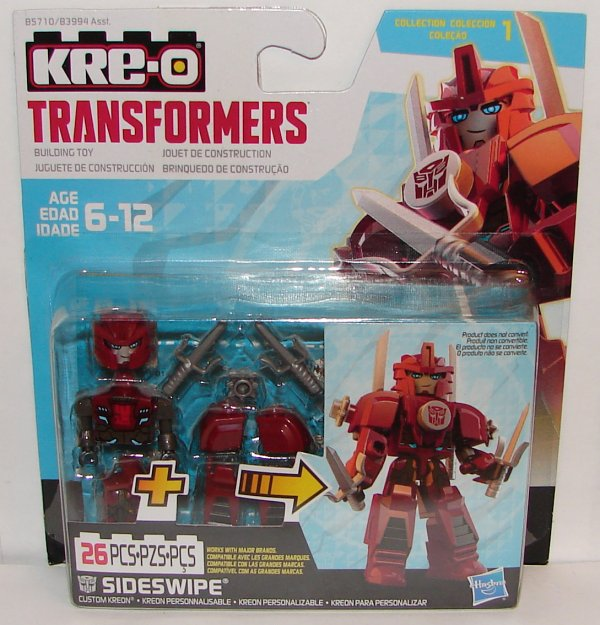 Kre-O Transformers Custom Kreon Armor Up /& Night Strike Sideswipe Both Versions